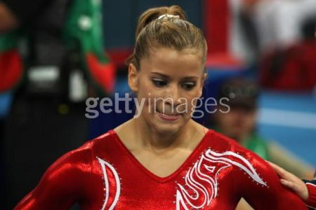 Alicia Sacramone fell on balance beam and floor exercise, taking away any chance of the U.S. women's winning team gold.