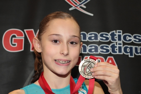 Canada's Sabrina Gill, one of Oakville Gymnastics's up-and-comers.